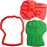 Hulk Fist Cookie Cutter and Stamp (2 inch)