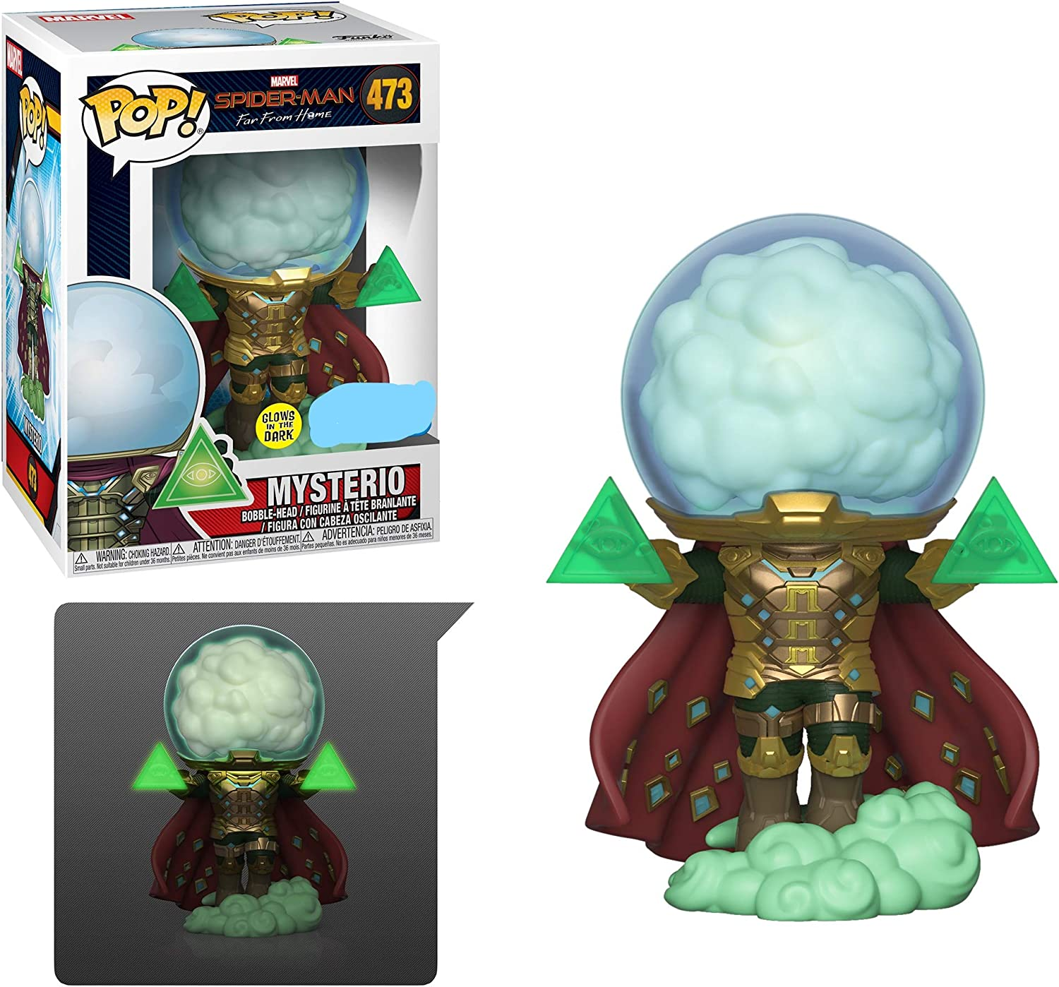 Funko Pop! Marvel: Spider-Man Far from Home - Mysterio (Glow) Exclusive