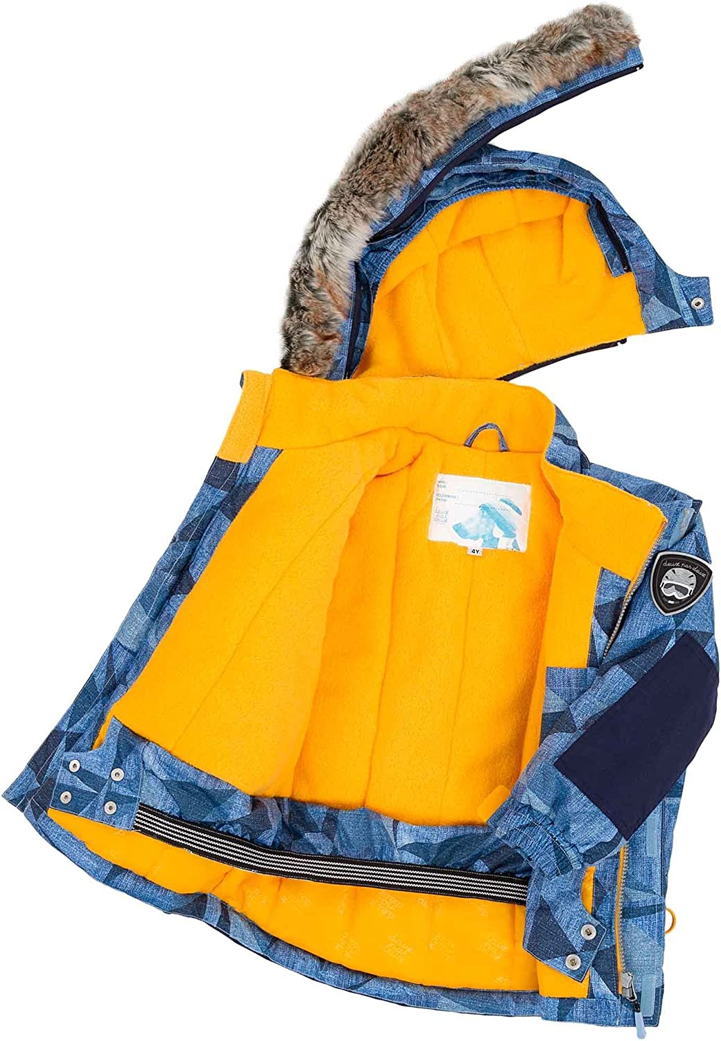 Deux par Deux Boys 2-Piece Snowsuit Hey Mr Dj Blue Sizes 4-14