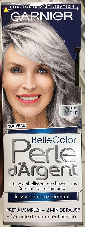 Garnier - Belle color plata de la perla - Crema gris brillo del pelo déjaunisseur Gris - Gris Perla, 40 ml