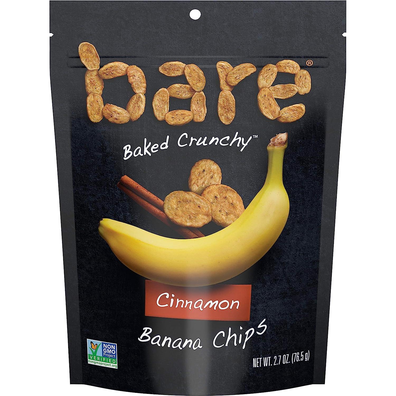 Bare Baked Crunchy Banana Chips, Cinnamon, Gluten Free, 2.7 Ounce Bag, Pack of 6