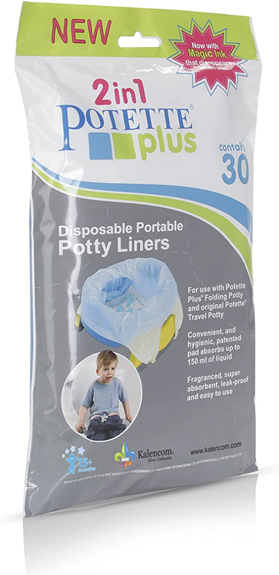 Kalencom Potette Plus Potty Seat Liners with Magic Disappearing Ink