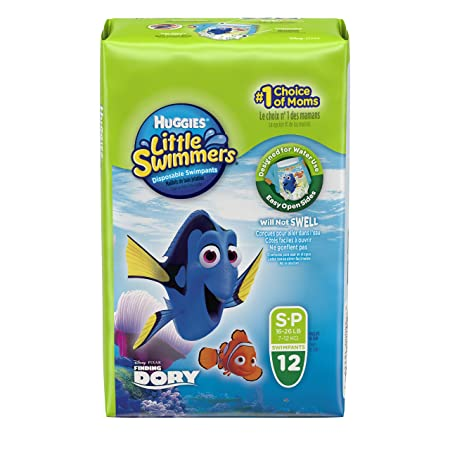 Huggies Little Swimmers Diapers Small (12 Pieces) Swim Diapers at amazon