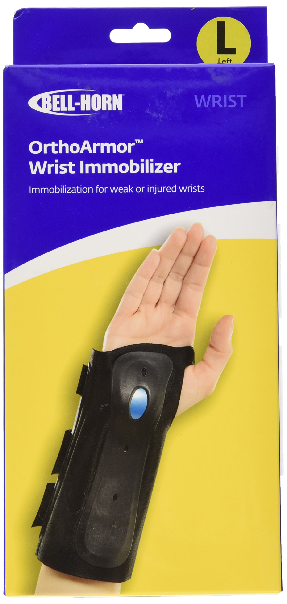 Amazon.com: Bell-Horn OrthoARMOR Wrist Support Brace, Left Hand, Large: Health & Personal Care