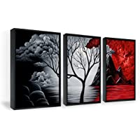 Wieco Art Framed Art The Cloud Tree Wall Art HD Print of Oil Paintings Giclee Landscape Canvas Prints for Home…