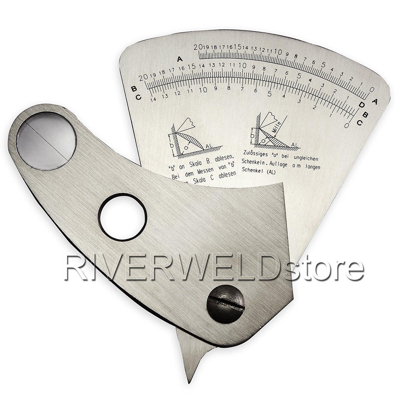 2 Years Warranty 0 - 20mm Stainless Steel Welding Gauge Fan-shaped Sector Gage Ruler Weld Inspection [ABBOTT] ABBOTT1/2
