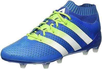 adidas Ace 16.1 Primeknit FG/AG, Chaussures de Football Multicolore-Azul/ Verde
