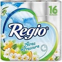 Regio Papel Higiénico Aires de Frescura, Aroma Cítrico y Floral, 16 Rollos