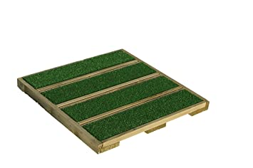 Terrazzo piastrelle in legno con erba sintetica cm pezzi