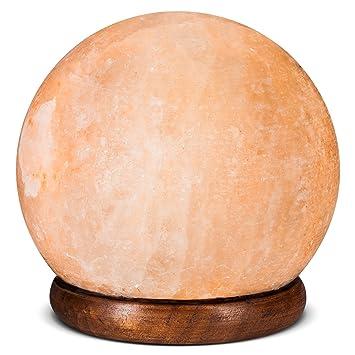 hemingweigh Rock Salz Lampe Kugel 12 cm mit Holz Sockel, elektrische ...