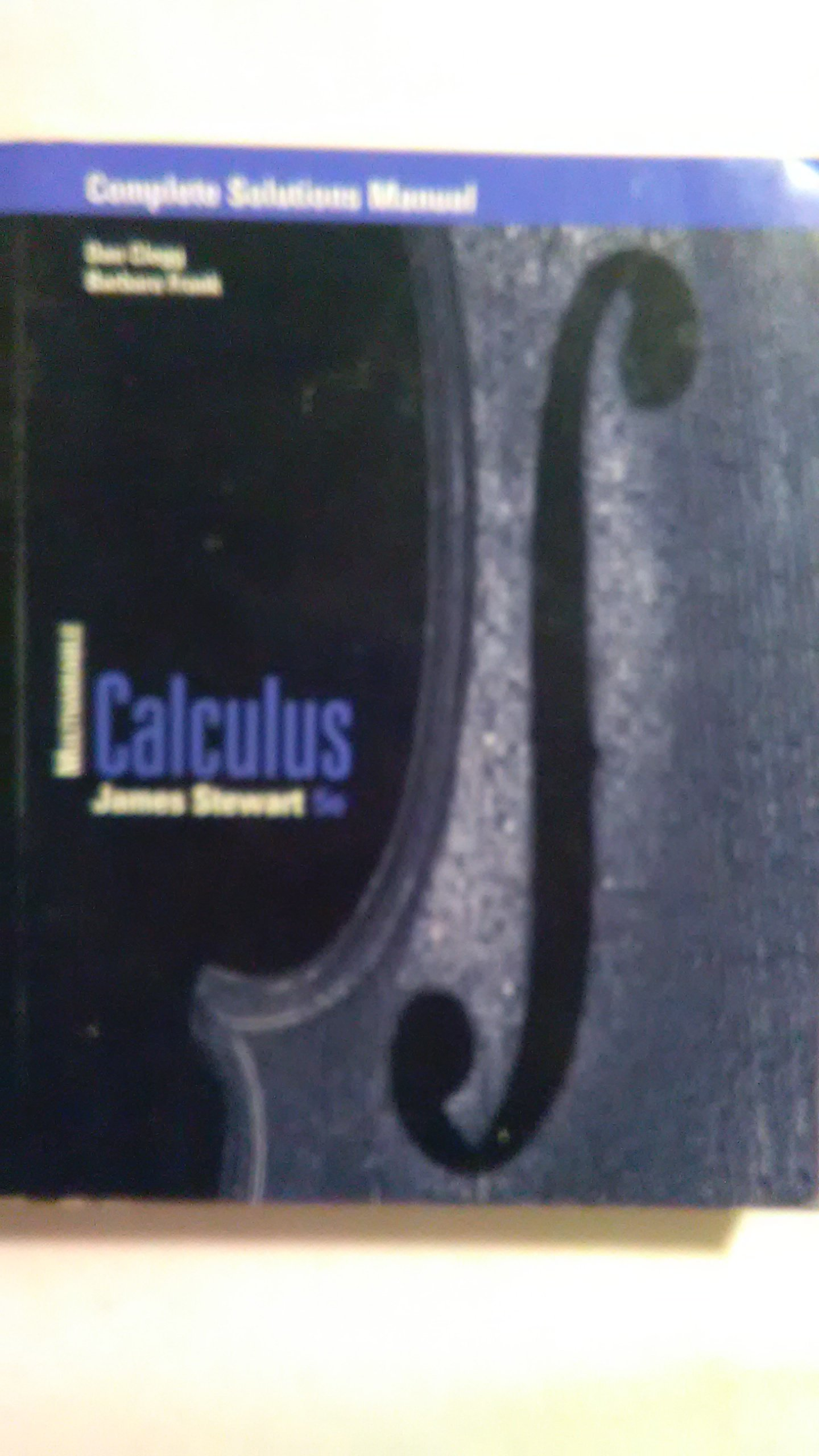 Calculus: Multivariable, Complete Solutions Manual, 5th Edition: James  Stewart: 9780534393595: Amazon.com: Books