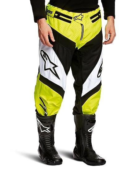 a3b30d048d66 Alpinestars A-Line Downhill - Pantaloni da moto, colore: Bianco/giallo  fluo, Multicolore (Yellow Fluo/White), Taglia 38: Amazon.it: Sport e tempo  libero
