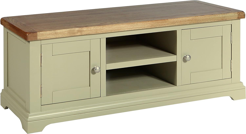 Melbourne Prado Living - Mueble para televisor de 2 puertas (madera de roble lacado), diseño rústico de roble macizo: Amazon.es: Hogar
