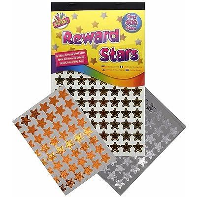 900 x Reward Star Stickers Silver Gold Bronze Home School Teacher Good Work by Tallon: Toys & Games