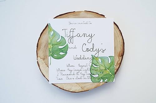 Amazon Com Printable Tropical Wedding Beach Invitation Printable Wedding Invitations Inexpensive Bridal Shower Invites Handmade