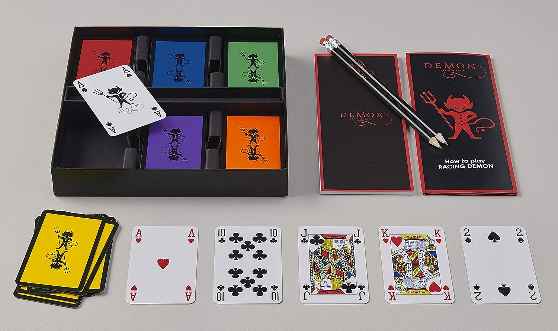 Racing Demon Premium Spielkarten – Klassisches Set für 6 Spieler (englische Version)
