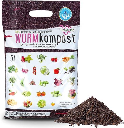 Green-PIK LAT Compost de gusanos – Abono ecológico puro I ...