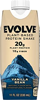 product image for Evolve Protein Shake, Ideal Vanilla, 20g Protein, 11 Fl Oz (Pack of 12)