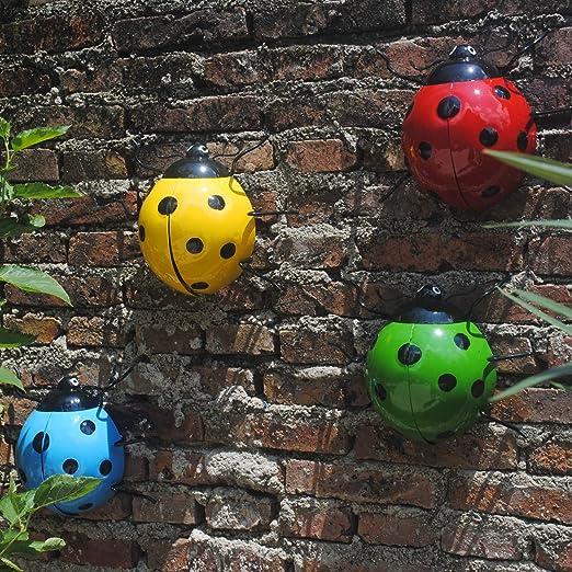 XCXDX Interesante Decoración De Escarabajos En El Jardín, Estatua De Hierro En La Pared para Animales, Cerca De La Pared, Adornos De Estilo Rústico Vintage: Amazon.es: Hogar