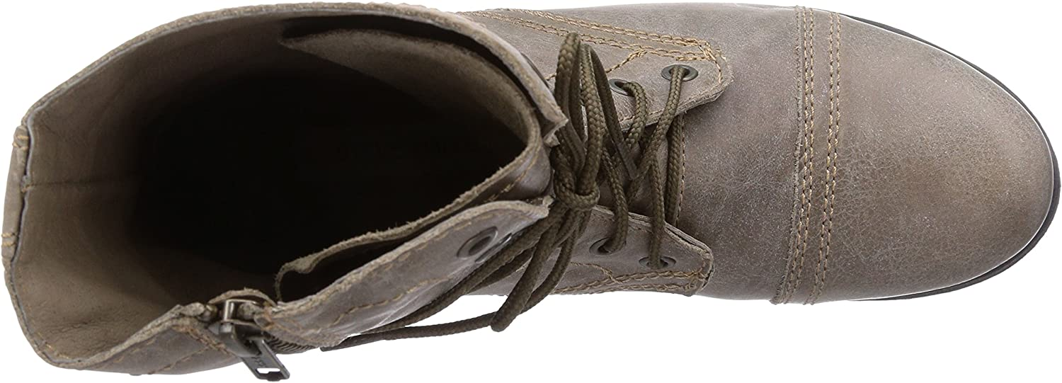 Steve Madden Troopa, Botas Militares para Mujer Stone Leather 4CAMZ
