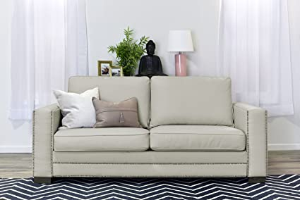 Superieur Serta Mason 81u0026quot; Sofa In Ivory Bonded Leather