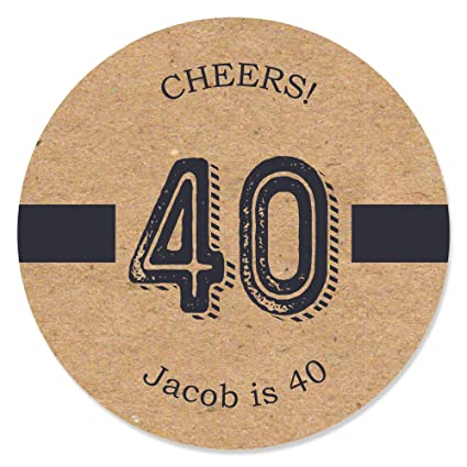 Amazon.com: Custom 40th Cumpleaños Milestone – dashingly ...