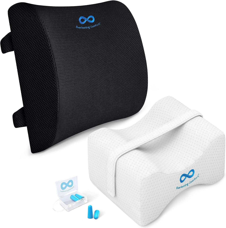 Orthopedic Design for Everlasting Comfort 100/% Pure Memory Foam Back Cushion