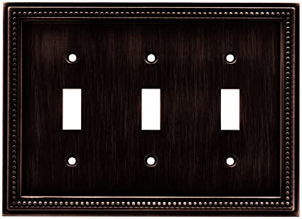 Brainerd 64408 Beaded Triple Toggle Switch Wall Plate Switch Plate