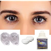 Eyexol Blue Monthly Power Color Contact lens (-1, Colored Contact Lenses, Pack of 2)