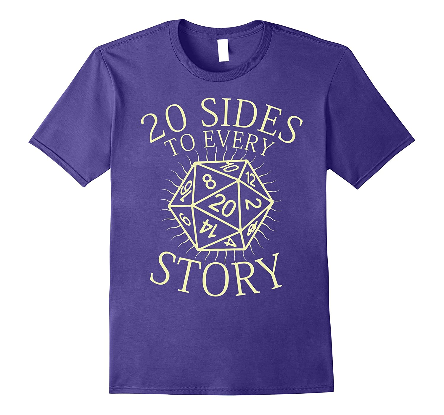 20 Sides to Every Story T-Shirt. RPG Tabletop Board Games-TH