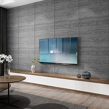 KINLO 15pcs 70 X 70 Cm Tapete Selbstklebend Holzoptik 3D Wandaufkleber PVC  Verdicht DIY Schaum Wandpaneele