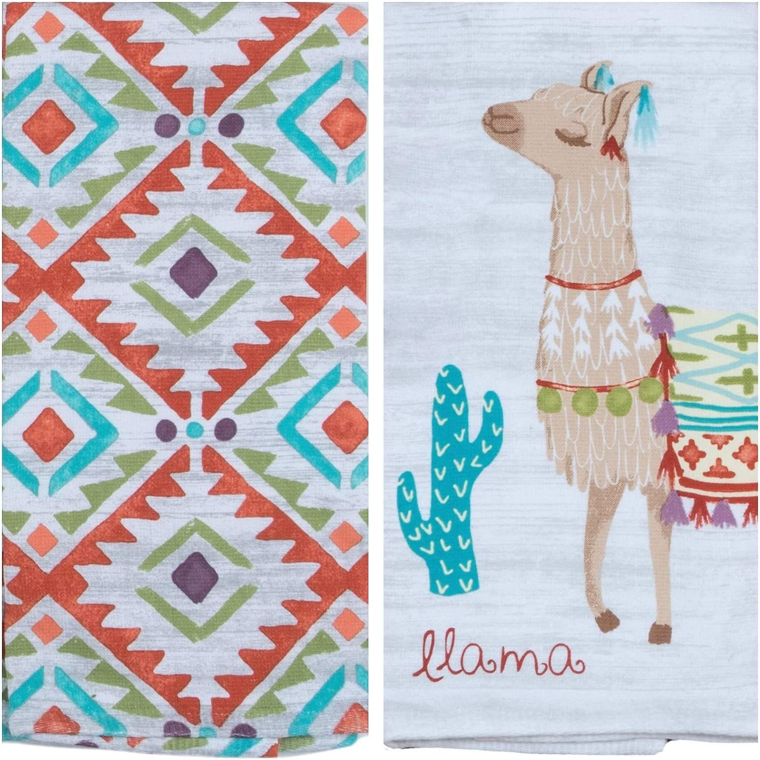 Lovely Llama Dual Purpose Terry Kitchen Towel Cotton