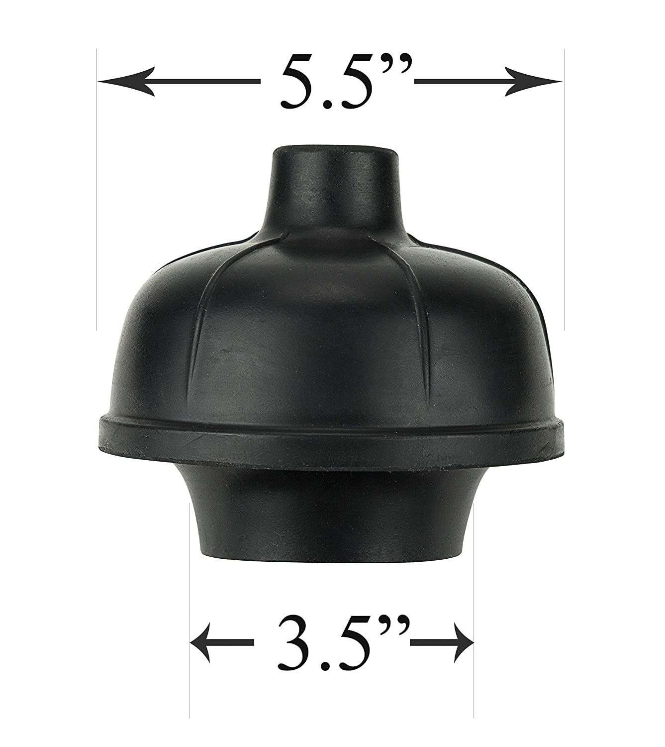 SteadMax Rubber Toilet Plunger, Double Thrust Force Cup, Heavy Duty ...