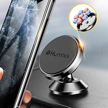 humixx Soporte magnético Universal para móvil, Ajustable a 360º, Soporte de Smartphone para el Coche, para iPhone 6, 6S, 7, 7 Plus, Samsung Galaxy S7, S8, HTC: Amazon.es: Electrónica