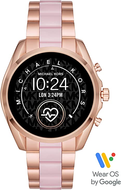 Michael Kors Access Womens Bradshaw 2 Touchscreen Stainless Steel Smartwatch, Rose Gold and Blush-MKT5090