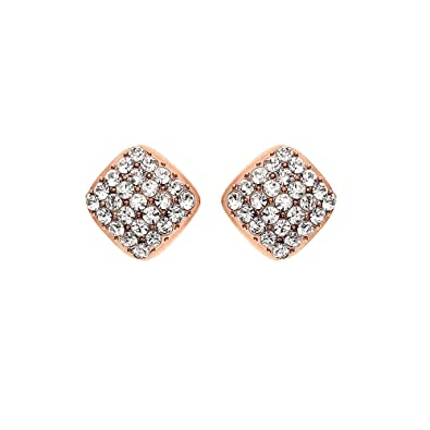 e8a94f7634488 Amazon.com: 14K Gold, Rose Gold, or Rhodium Plated Sculpted Square ...