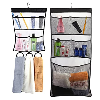 Bon WarmHut Quick Dry Hanging Caddy Bath Organizer With Mesh Pockets,Hanging  Mesh Shower Caddy,