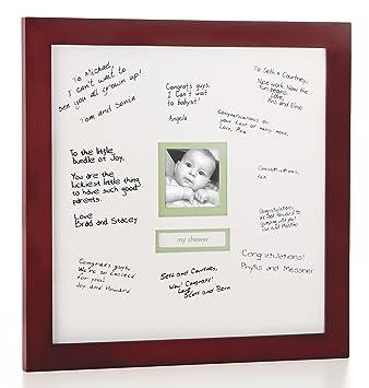 Amazoncom Pearhead Signature Frame Mahogany Baby Keepsake