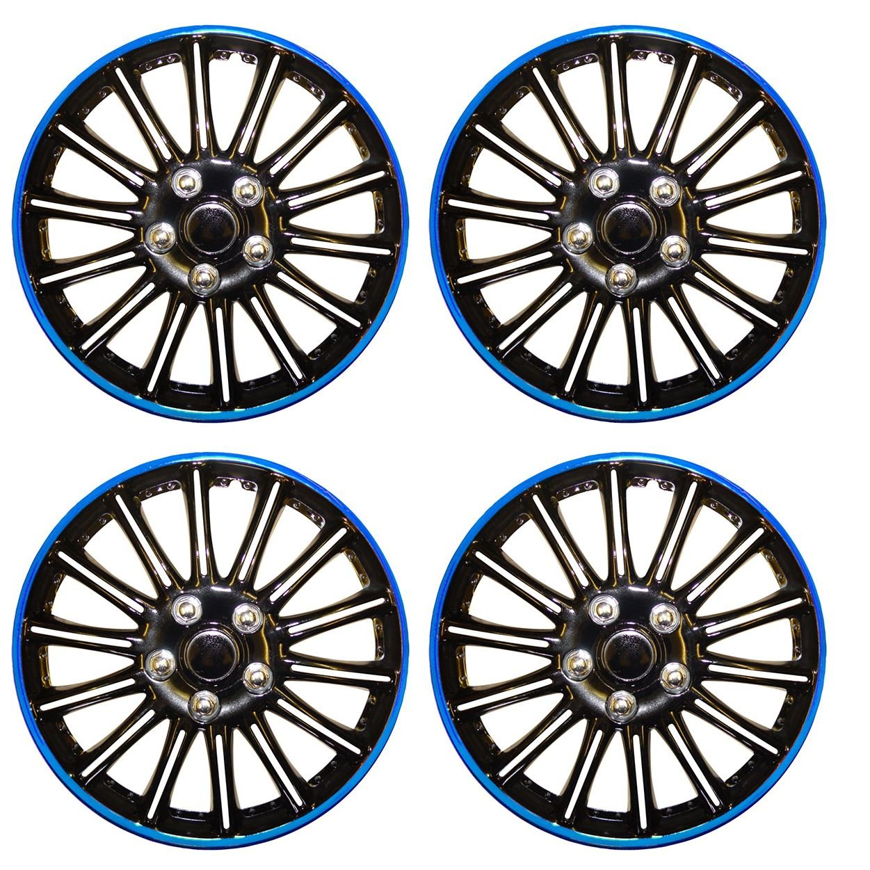 UKB4C Set of 4 14 Black//Blue Wheel Trims//Hub Caps fits Ford Focus Mondeo Fiesta KA