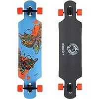 DGWBT Bamboo Maple 41 inch Drop Through Longboard Skateboard Complete
