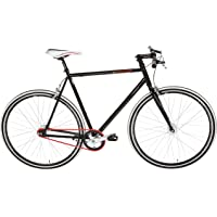 "KS Cycling Essence Vélo Fixie 28"" Noir 56 cm"
