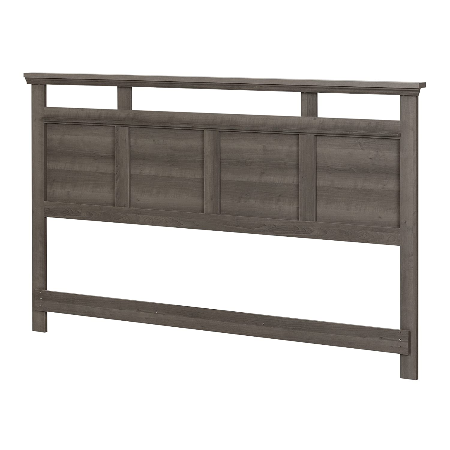 South Shore Furniture Versa Headboard (78'), King, Gray Maple 10605