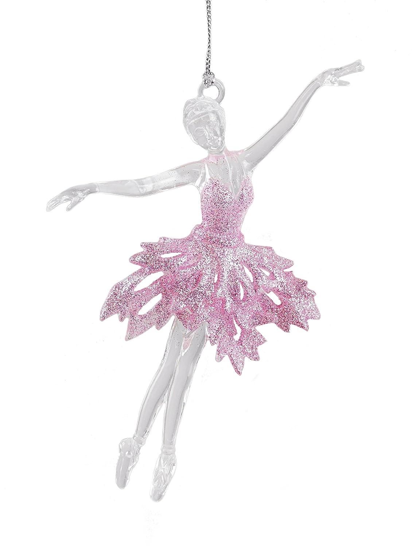 Caffco Glittery Ballerina Dancer Hanging Christmas Ornament