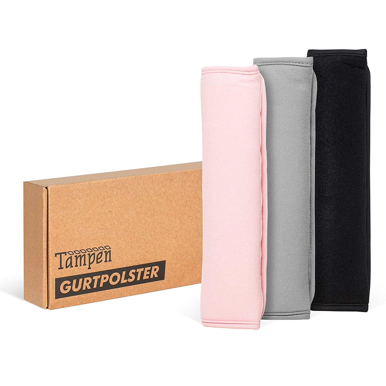 Tampen Gurtpolster Set /· 2 St/ück /· f/ür Erwachsene und Kinder /· hochwertig verarbeitet /· universelle Gr/ö/ße /· Maschinenwaschbar /· Doppelpack /· Rosa