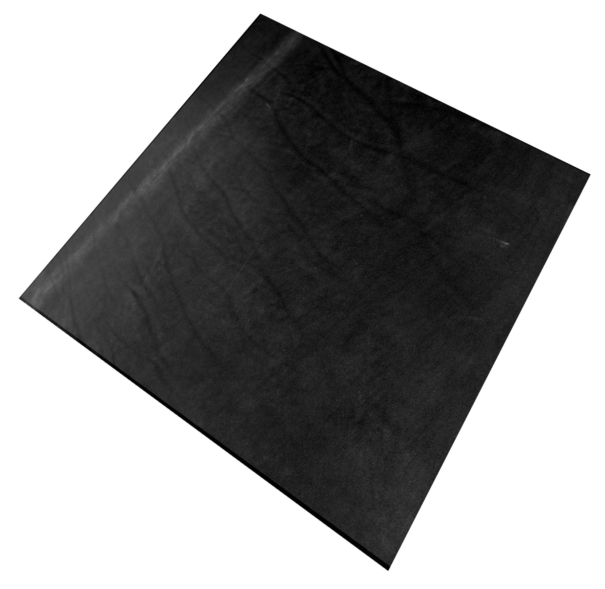 Springfield Leather Company Pre-Cut Hermann Oak 24''x24'' Black Vegetable Tan Cowhide Tooling Leather 8-11oz