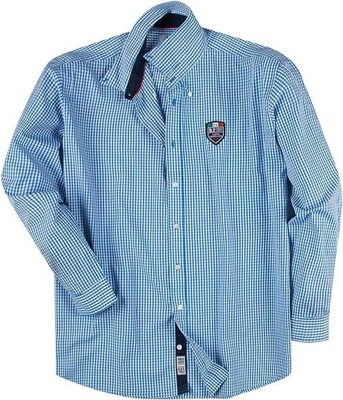 Redfield XXL Camisa Manga Larga a Cuadros Azul-Blanco, 2xl-8xl:3XL: Amazon.es: Ropa y accesorios