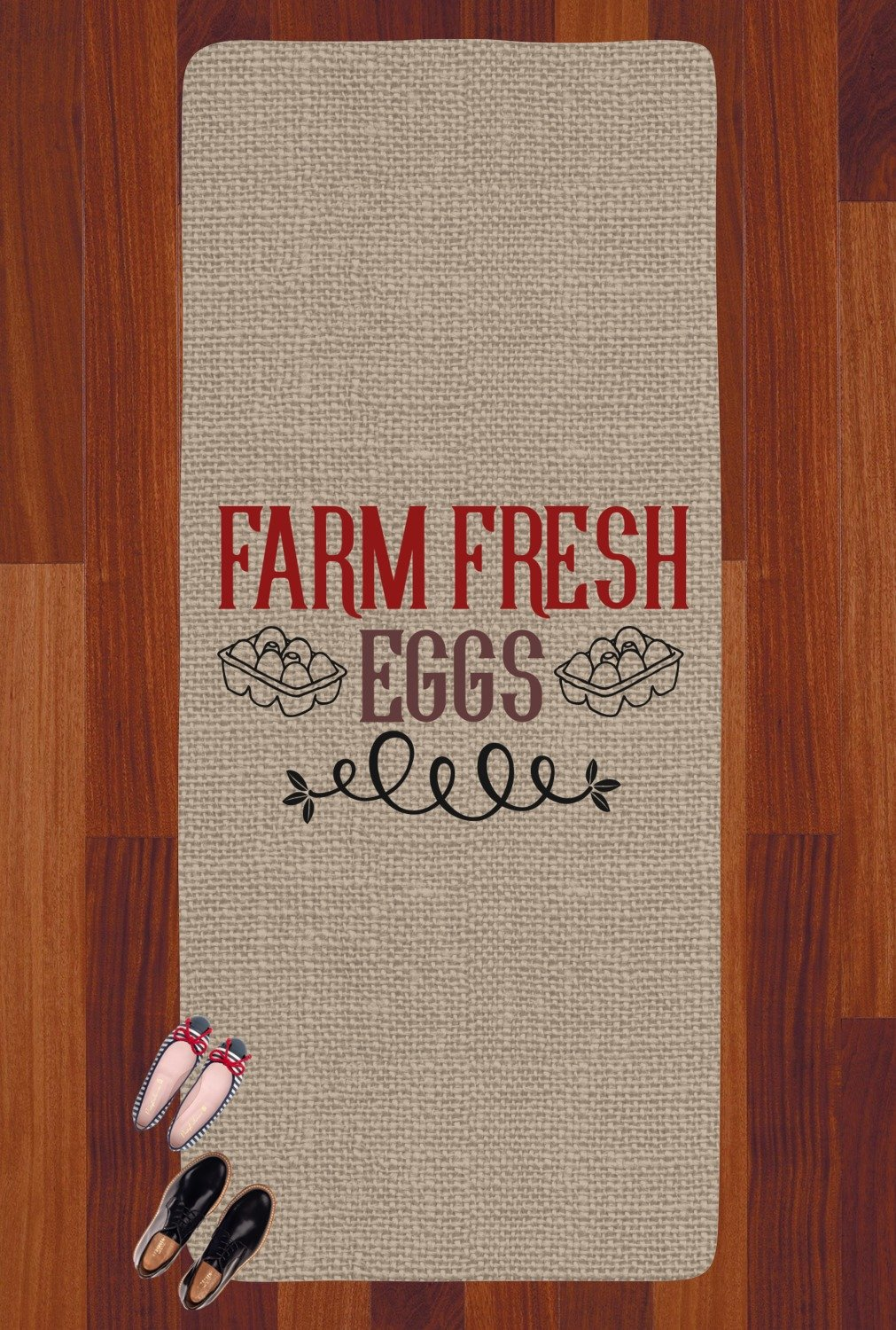 Amazon.com: RNK Shops Farm Quotes Runner Rug - 3.66x8 (Personalized): Kitchen & Dining