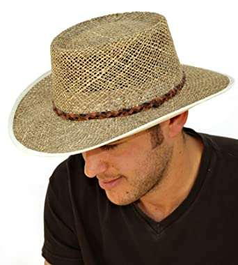 Mens Greg Norman Style Seagrass Straw Summer Hat S19 Amazon Co Uk