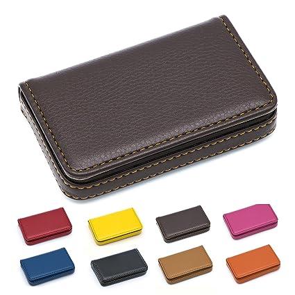 Amazon padike business name card holder luxury pu leather padike business name card holder luxury pu leatherbusiness name card holder wallet credit card colourmoves