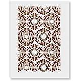 Scandinavian Geometric Pattern Wall Stencil - DIY Wallpaper Alternative - Brighten Up Your Home with Our Scandinavian…